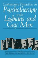 Contemporary Perspectives on Psychotherapy with Lesbians and Gay Men PDF