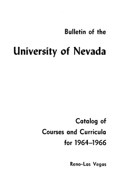 Catalog of Courses and Curricula for     Reno Las Vegas PDF