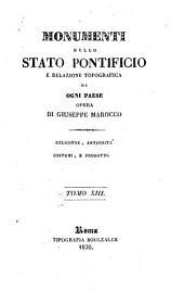 Mounmenti dello Stato pontificio e relazione topografica di ogni paese, opera di Giuseppe Marocco ...