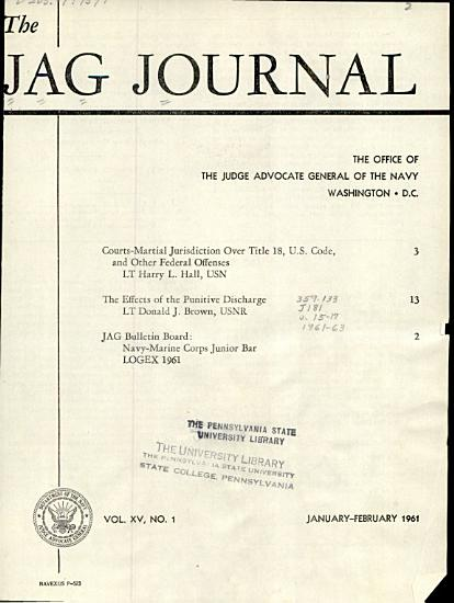 The JAG Journal PDF