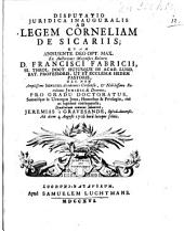 Ad legem Corneliam de sicariis ...
