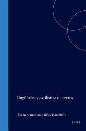 Lingüística y estilística de textos
