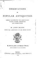 Observations on Popular Antiquities PDF