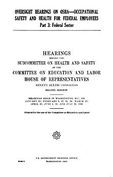 Oversight Hearings on OSHA  occupational Safety and Health for Federal Employees PDF