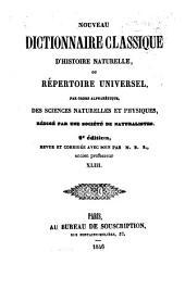 Nouveau dictionnaire classique d'histoire naturelle; ou, Répertoire universel des sciences naturelles et physiques: Volume43