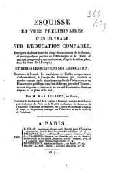 Esquisse et vues préliminaires d'un ouvrage sur l'éducation comparée