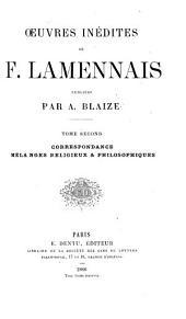 Oeuvres inédites de F. Lamennais: Volume2