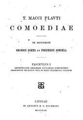 T. Macci Plauti Comoediae: Volumes 1-2