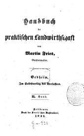 Handbuch der praktischen Landwirtschaft: Band 2