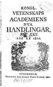 Kungliga Svenska Vetenskapsakademiens handlingar: 1801