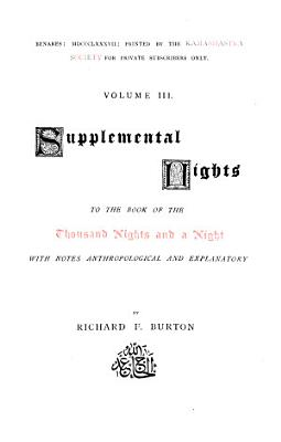 Supplemental Nights to the Book of the Thousand Nights and a Night