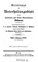 Belehrungs  und Unterhaltungsblatt f  r den Landmann und kleinen Gewerbsmann B  hmens PDF