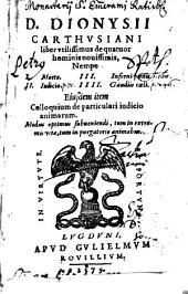 Liber utilissimus de quatuor hominis novissimis