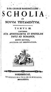 D. Io. Georgii Rosenmülleri ... Scholia in Novum Testamentum: Volume 3