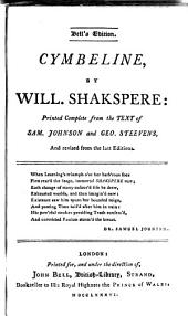 Cymbeline. Romeo and Juliet
