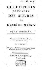 Collection complète des oeuvres de l'abbé de Mably: Volume8