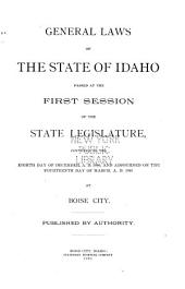 General Laws of the State of Idaho: Volume 1
