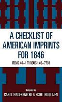 Checklist of American Imprints 1846