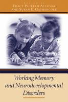 Working Memory and Neurodevelopmental Disorders PDF