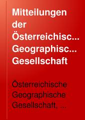 Mitteilungen der Österreichischen Geographischen Gesellschaft: Band 51