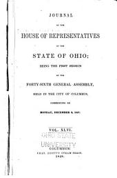 Journal of the House of Representatives of the State of Ohio: Volume 46