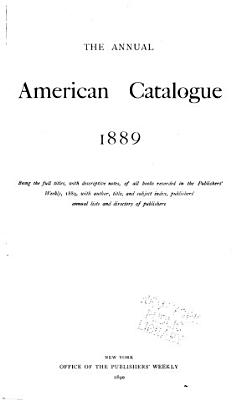 The Annual American Catalogue 1886 1900