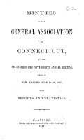 Minutes of the General Association of Connecticut PDF