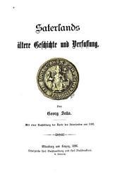 Saterlands ältere Geschichte und Verfassung