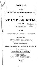 Journal of the House of Representatives of the State of Ohio: Volume 32