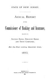 Annual Report - New Jersey, Division of Banking