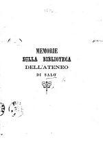 Memorie sulla Biblioteca dell'Ateneo di Salò