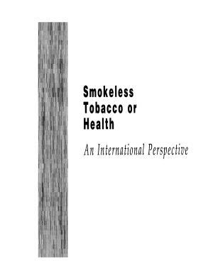 Smokeless Tobacco Or Health
