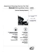 Current Housing Reports  H 170  American Housing Survey for the Detroit Metropolitan Area in     PDF