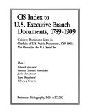 CIS Index to U S  Executive Branch Documents  1789 1909  Interior  Justice  and Labor Depts  Interstate Commerce Commission  Library of Congress PDF