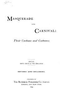 Masquerade and Carnival PDF