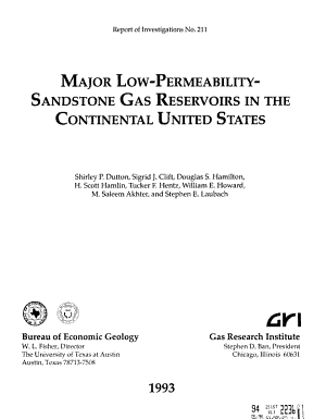 Major Low permeability Sandstone Gas Reservoirs in the Continental United States PDF