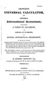 Crowgey's Universal calculator and general international accountant
