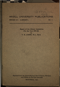 McGill University Publications PDF