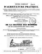 Traité de la culture des mûriers et de l'éducation des vers à soie
