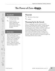 Guided Math Stretch Numerical Patterns The Power Of Zero Book PDF