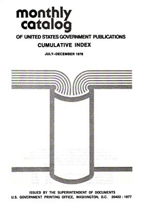 Monthly Catalog of United States Government Publications