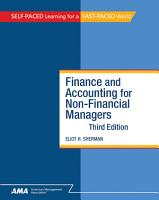 Finance and Accounting for NonFinancial Managers PDF