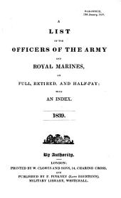 A List of the Officers of the Army and of the Corps of Royal Marines