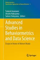 Advanced Studies in Behaviormetrics and Data Science PDF