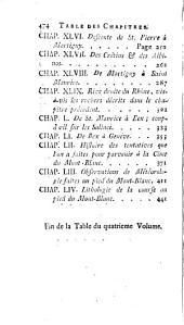 Voyages dans les Alpes, précédés d'un essai sur l'histoire naturelle des environs le Genève: Volume4