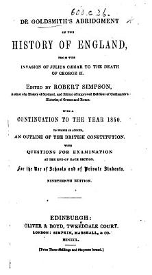 Dr  Goldsmith s Abridged History of England  to which is added  a continuation     to June 1820  Written purposely for this edition  by J  Bigland PDF