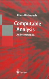 Computable Analysis: An Introduction