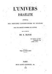 L'Univers israelité: Volume29