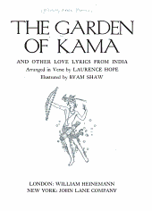 The Garden of Kama, and Other Love Lyrics from India