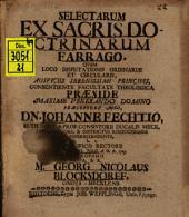 Selectarum ex sacris doctrinarum farrago